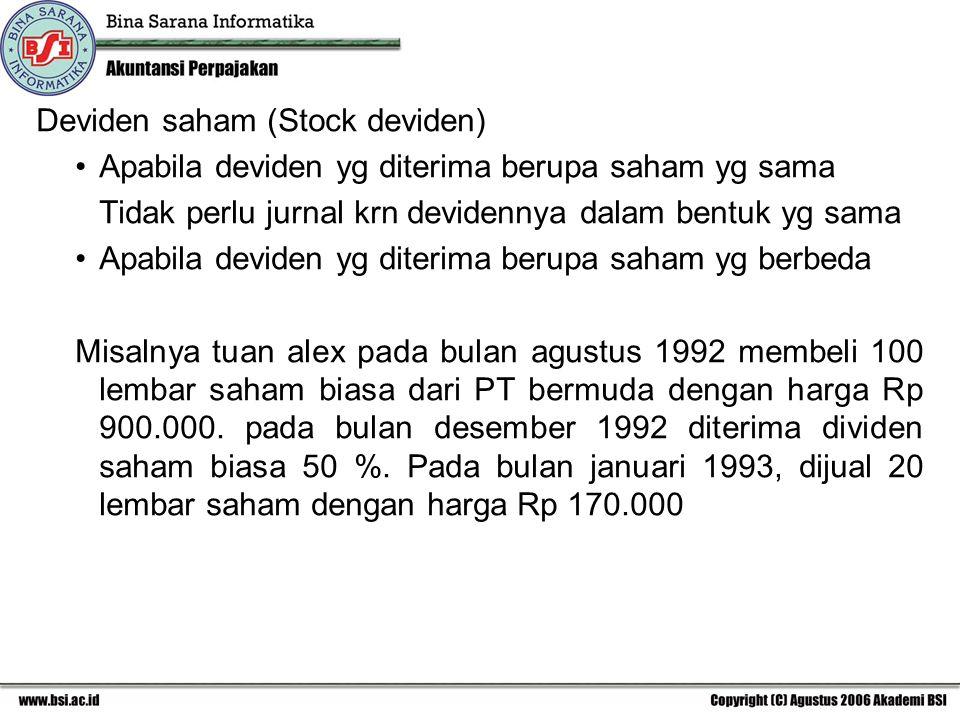 Deviden saham (Stock deviden)