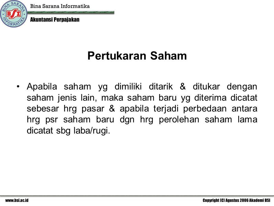 Pertukaran Saham