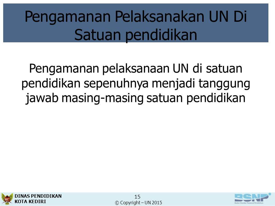 Pengamanan Pelaksanakan UN Di
