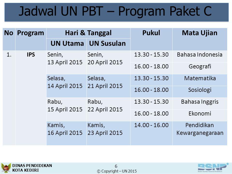 Jadwal UN PBT – Program Paket C