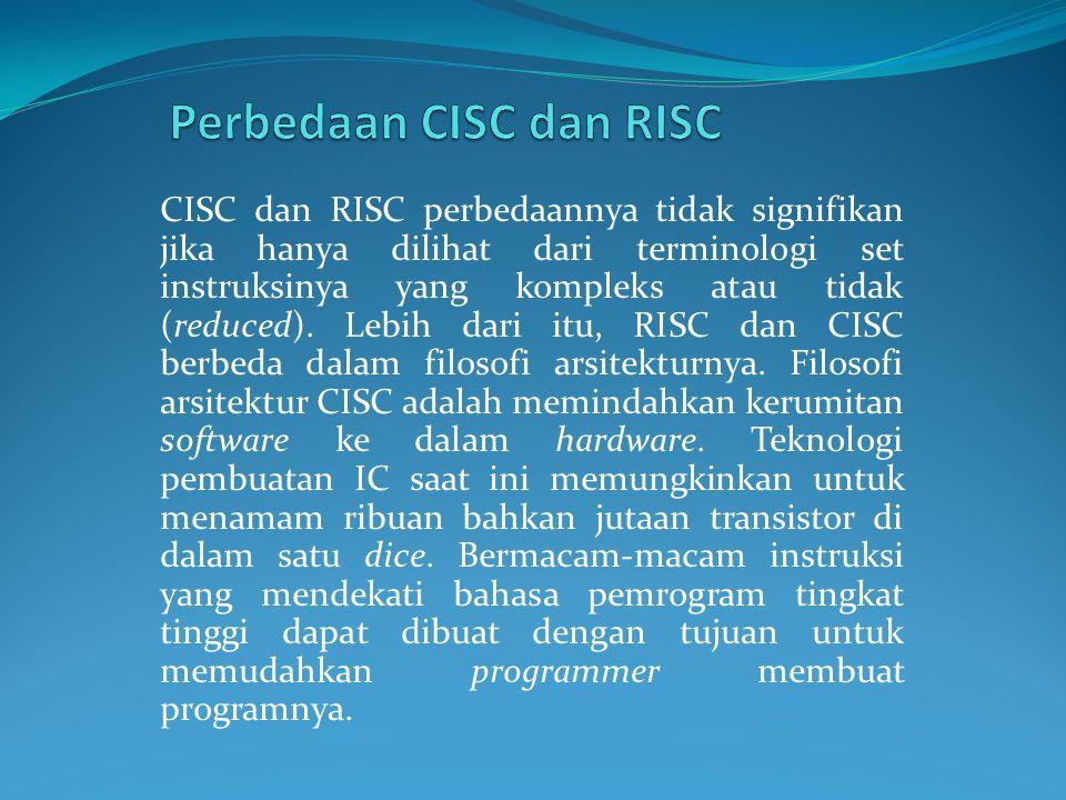 Perbedaan CISC dan RISC