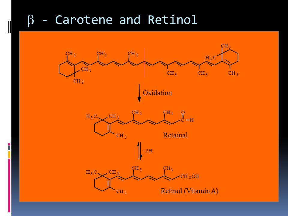 b - Carotene and Retinol