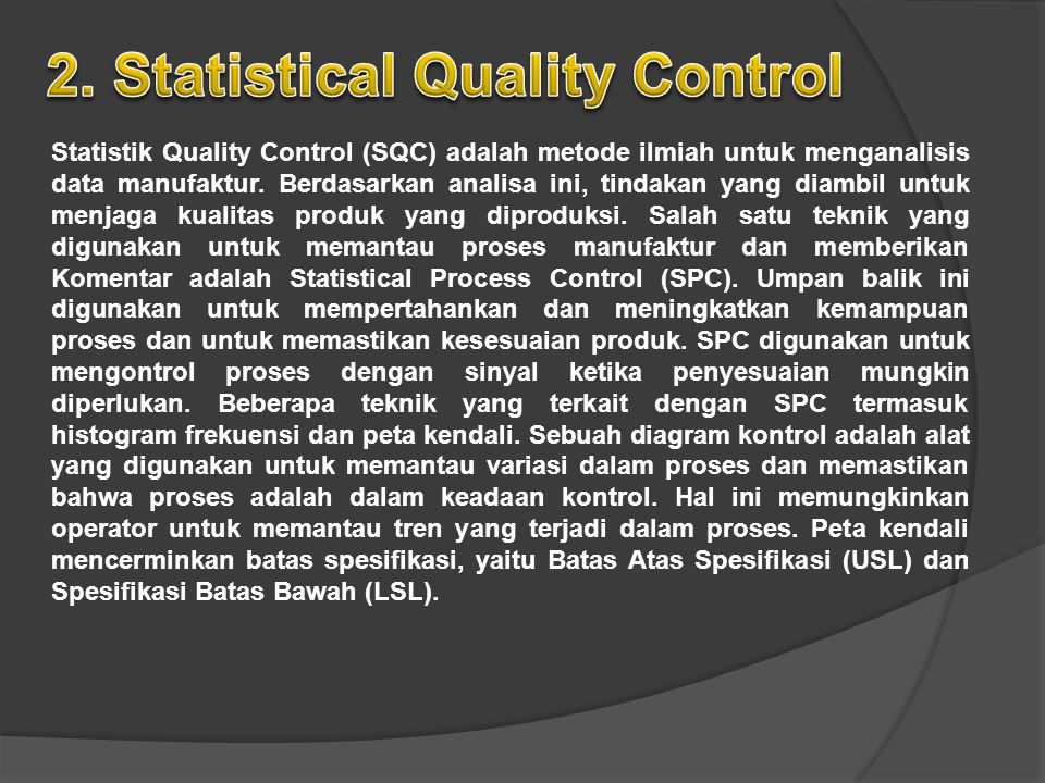 2. Statistical Quality Control