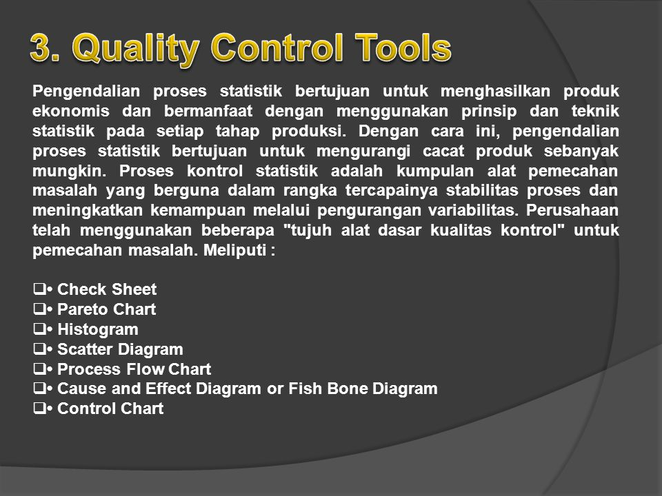 3. Quality Control Tools