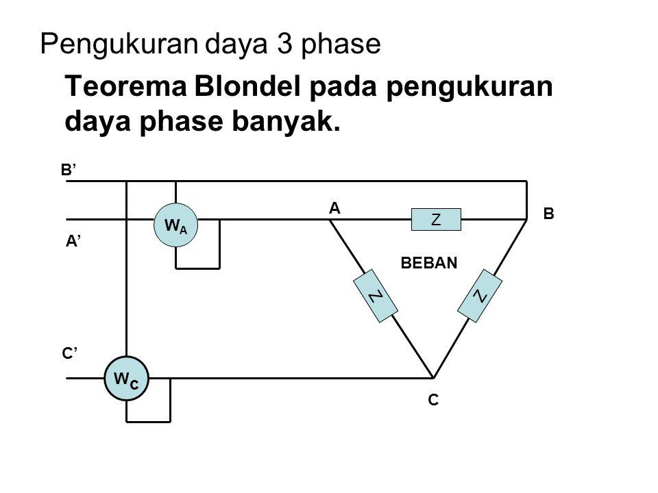 Teorema Blondel pada pengukuran daya phase banyak.