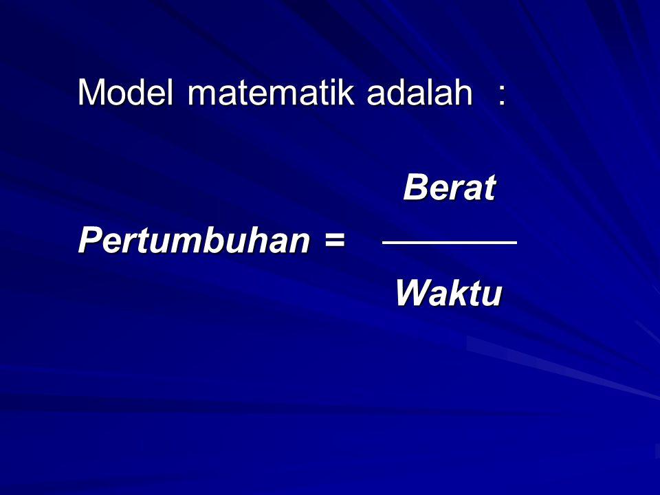Model matematik adalah :