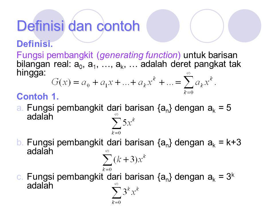 Definisi dan contoh Definisi.