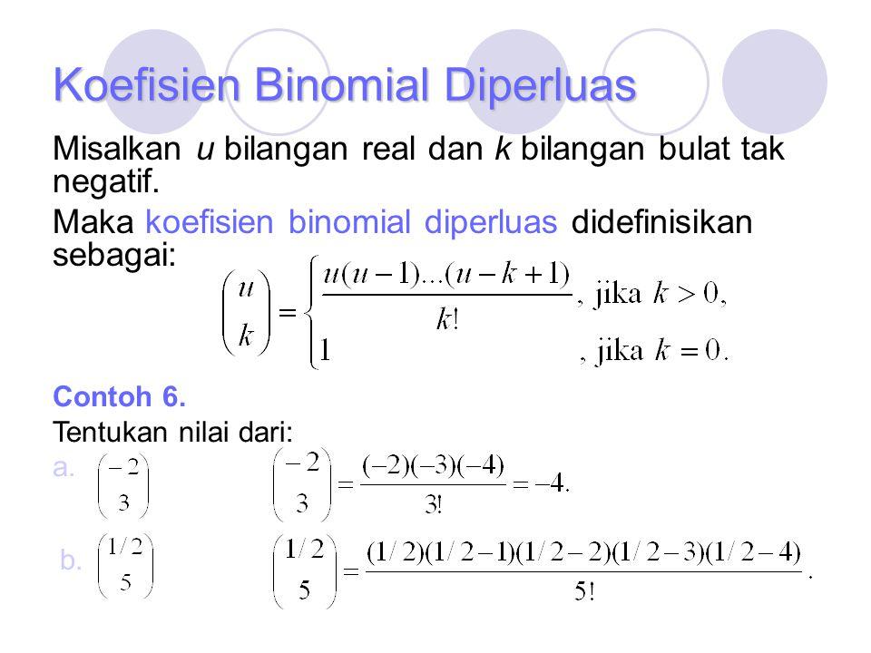 Koefisien Binomial Diperluas
