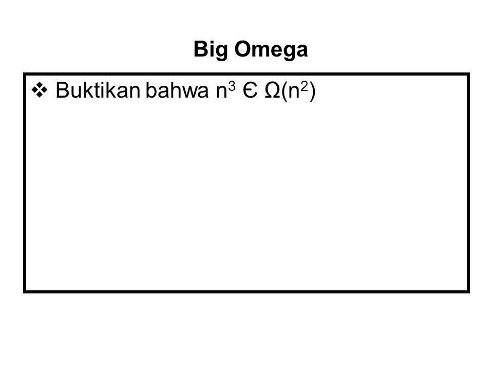 Big Omega Buktikan bahwa n3 Є Ω(n2)