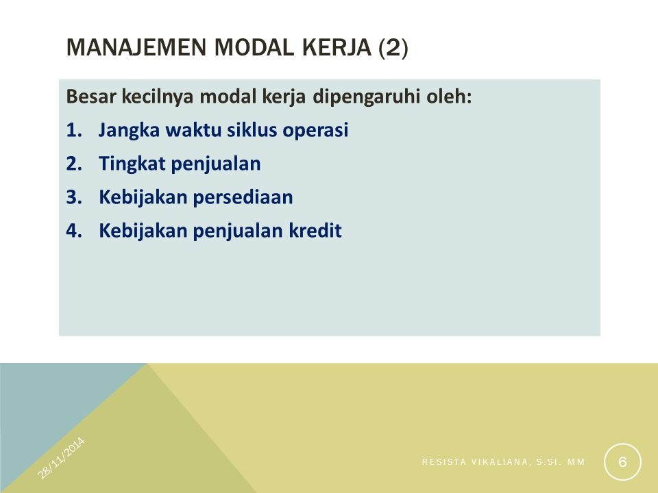 Manajemen Modal kerja (2)
