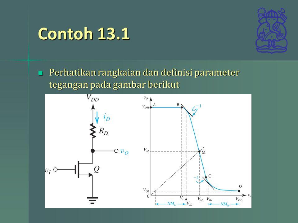 Contoh 13.1 Perhatikan rangkaian dan definisi parameter tegangan pada gambar berikut