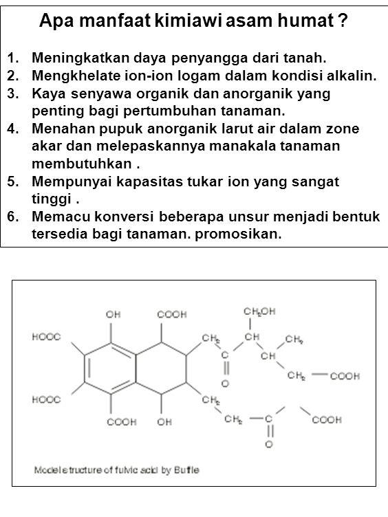 Apa manfaat kimiawi asam humat