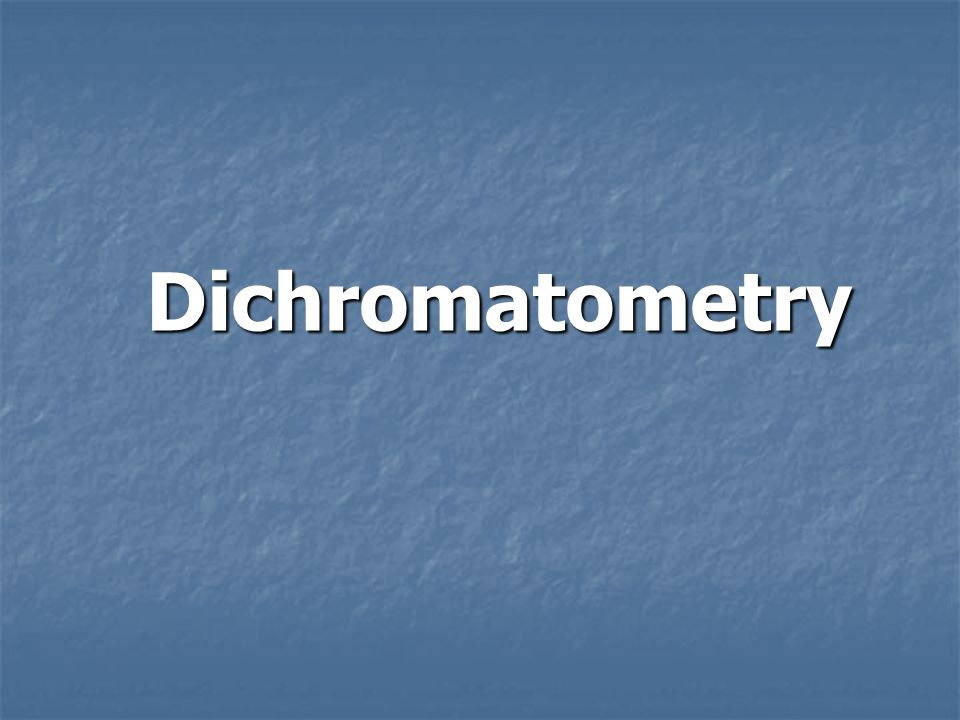 Dichromatometry