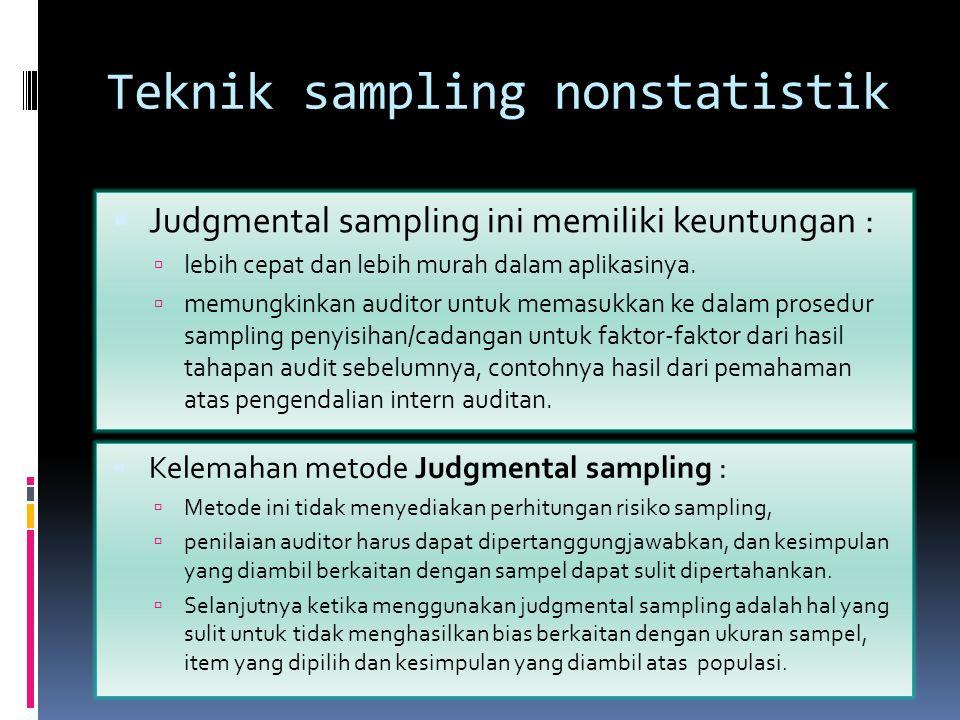 Teknik sampling nonstatistik