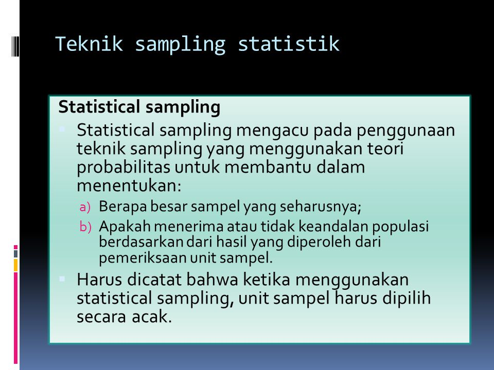 Teknik sampling statistik
