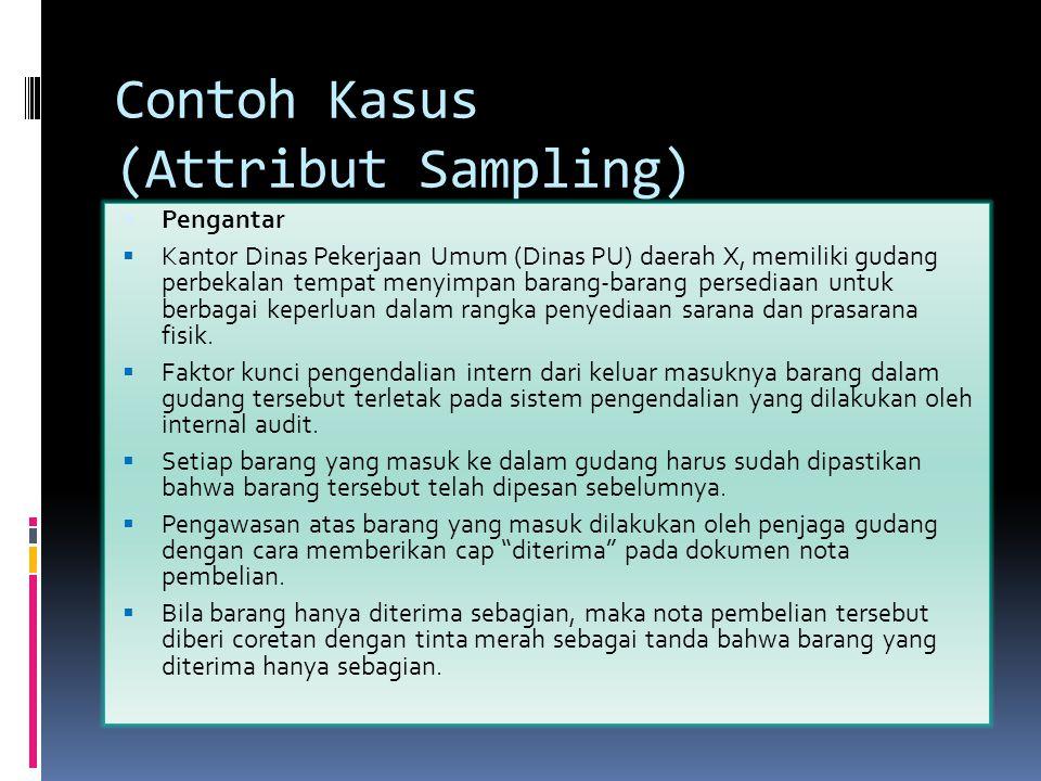 Contoh Kasus (Attribut Sampling)