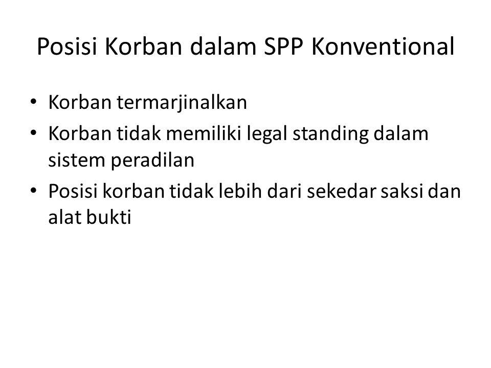 Posisi Korban dalam SPP Konventional