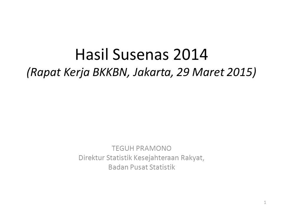 Hasil Susenas 2014 (Rapat Kerja BKKBN, Jakarta, 29 Maret 2015)