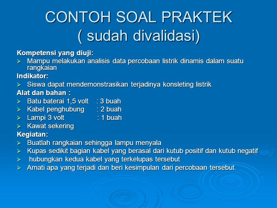 CONTOH SOAL PRAKTEK ( sudah divalidasi)
