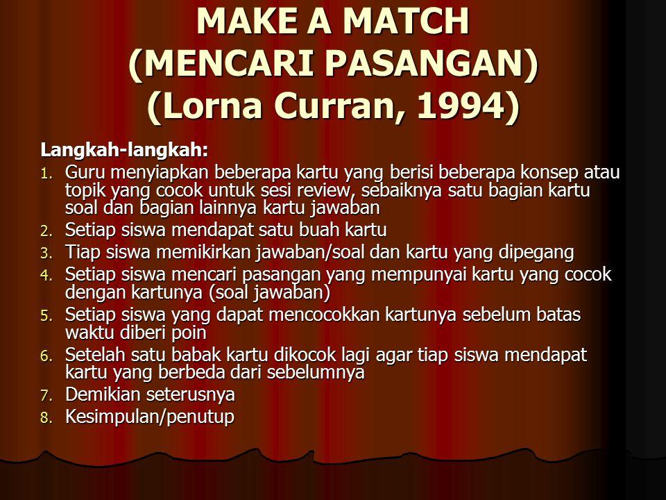 MAKE A MATCH (MENCARI PASANGAN) (Lorna Curran, 1994)