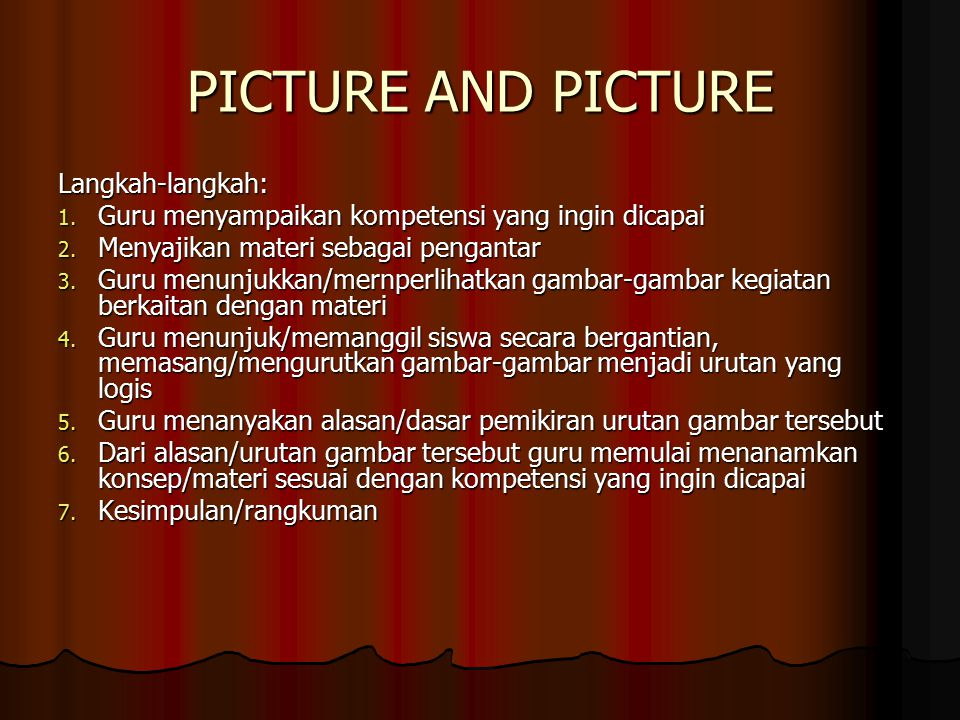 PICTURE AND PICTURE Langkah-langkah: