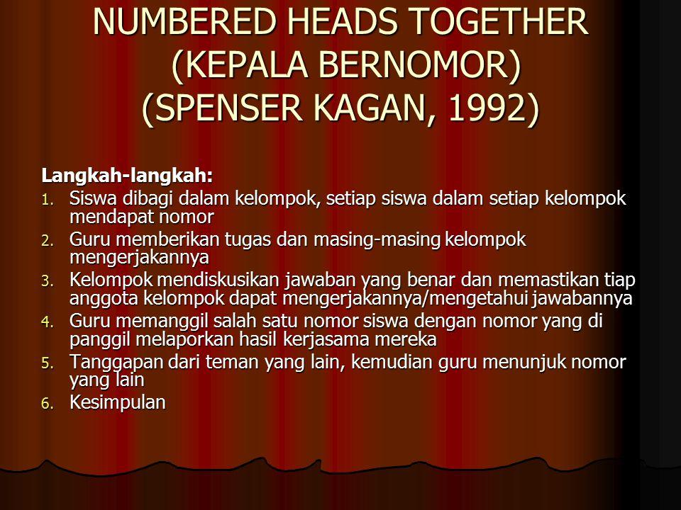 NUMBERED HEADS TOGETHER (KEPALA BERNOMOR) (SPENSER KAGAN, 1992)