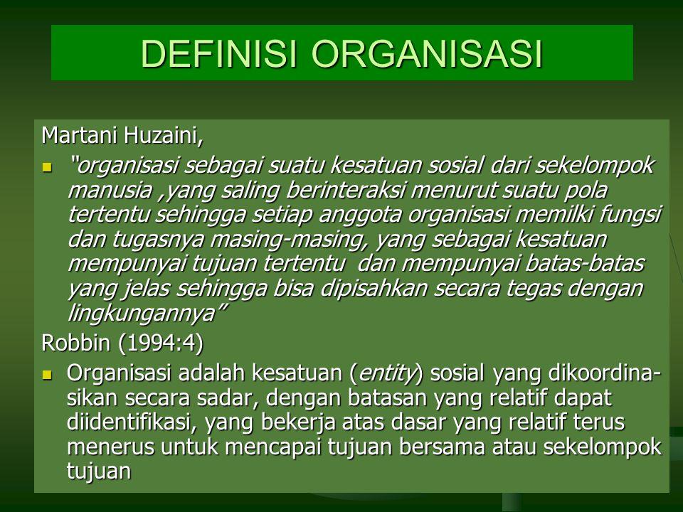 DEFINISI ORGANISASI Martani Huzaini,