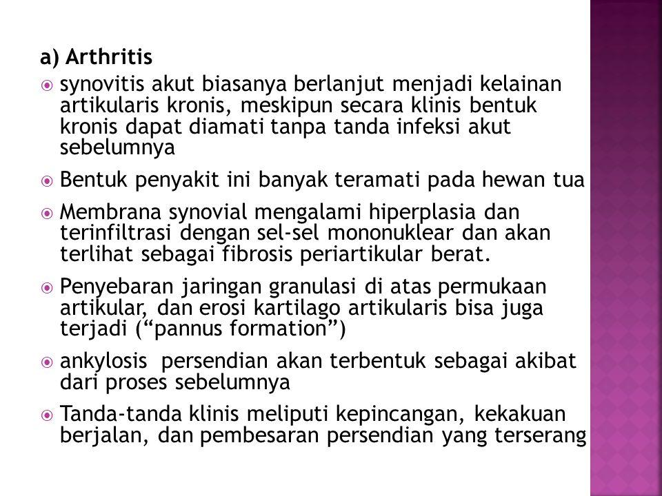 a) Arthritis