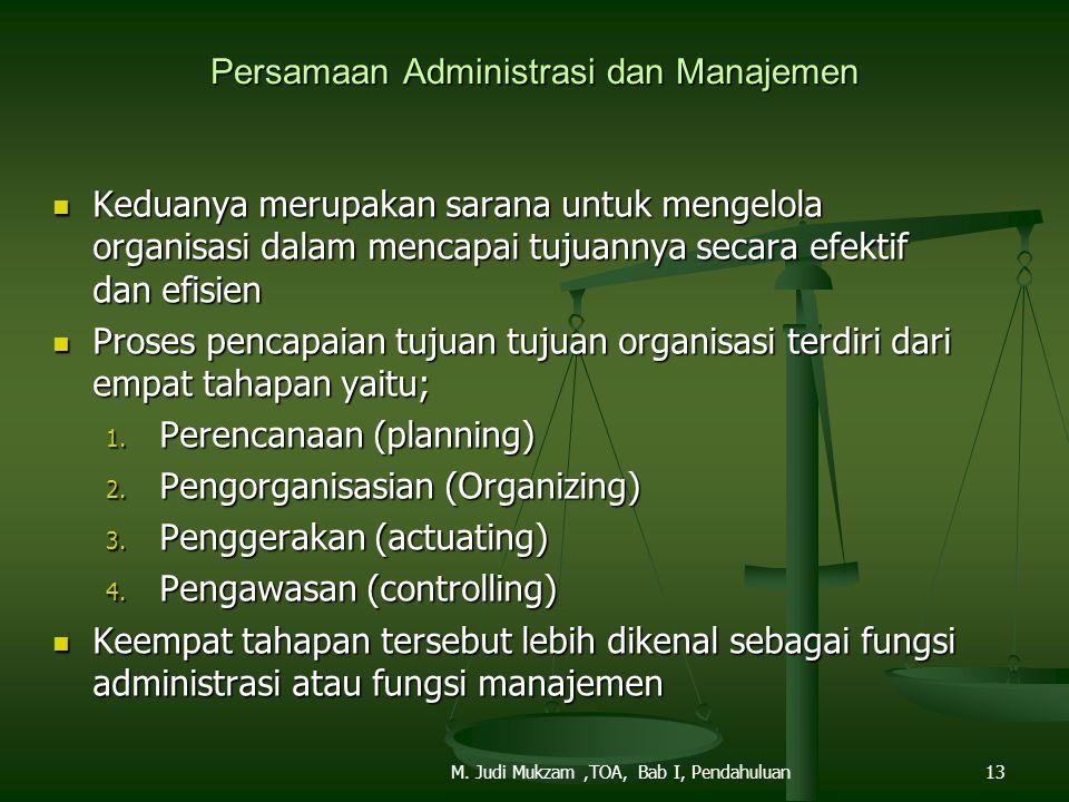 Persamaan Administrasi dan Manajemen