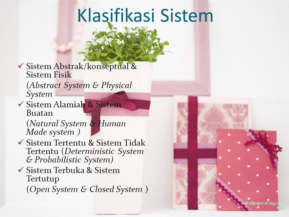 Klasifikasi Sistem Sistem Abstrak/konseptual & Sistem Fisik