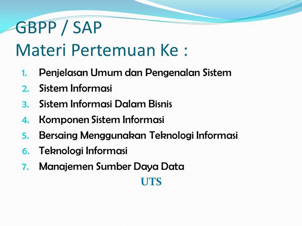 GBPP / SAP Materi Pertemuan Ke :