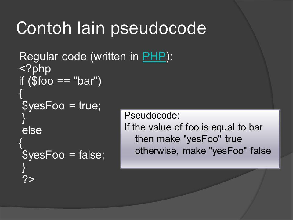 Contoh lain pseudocode