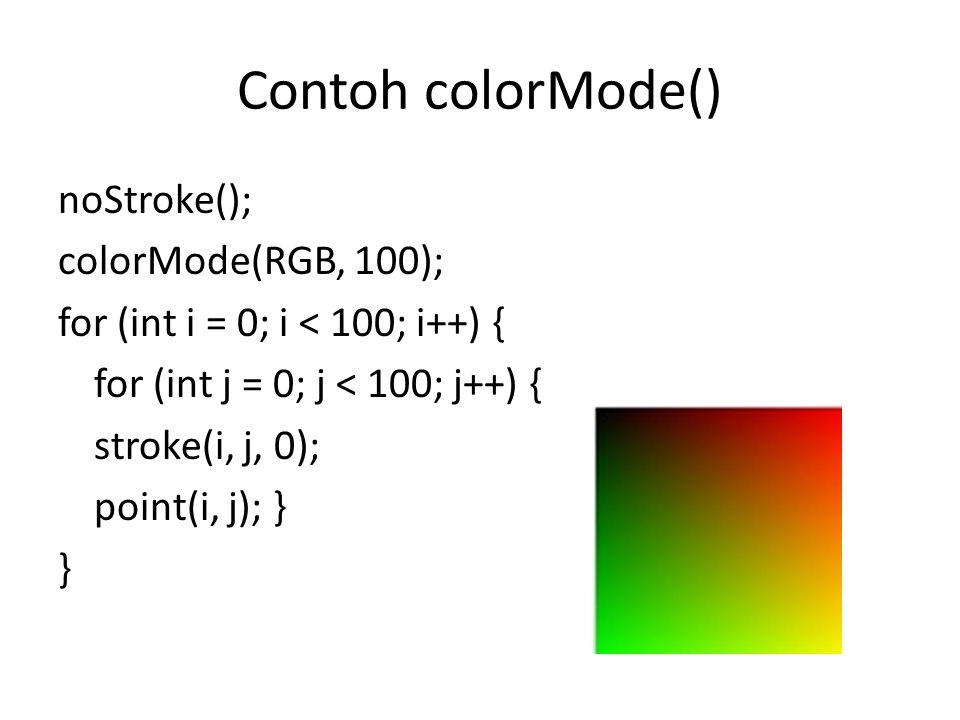 Contoh colorMode()