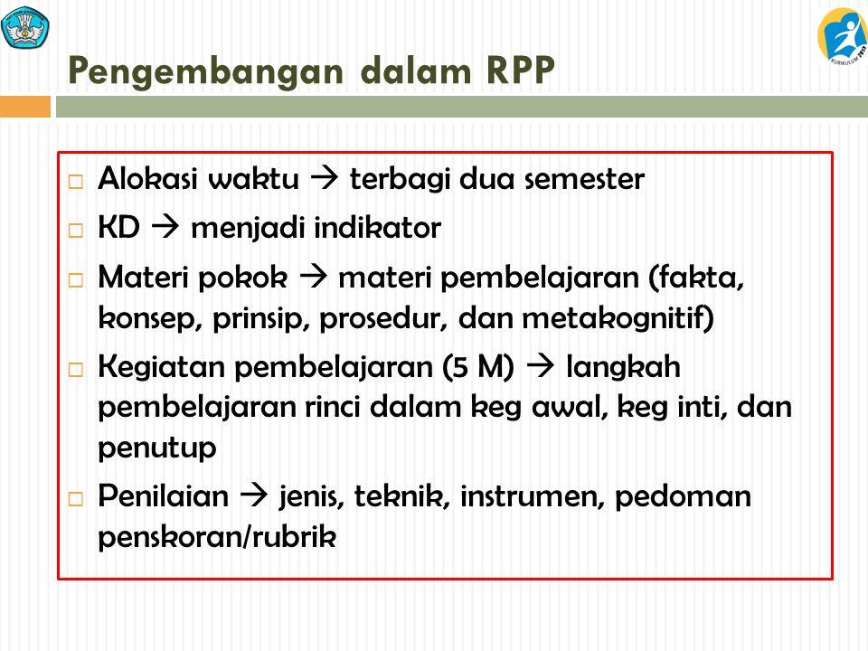 Pengembangan dalam RPP