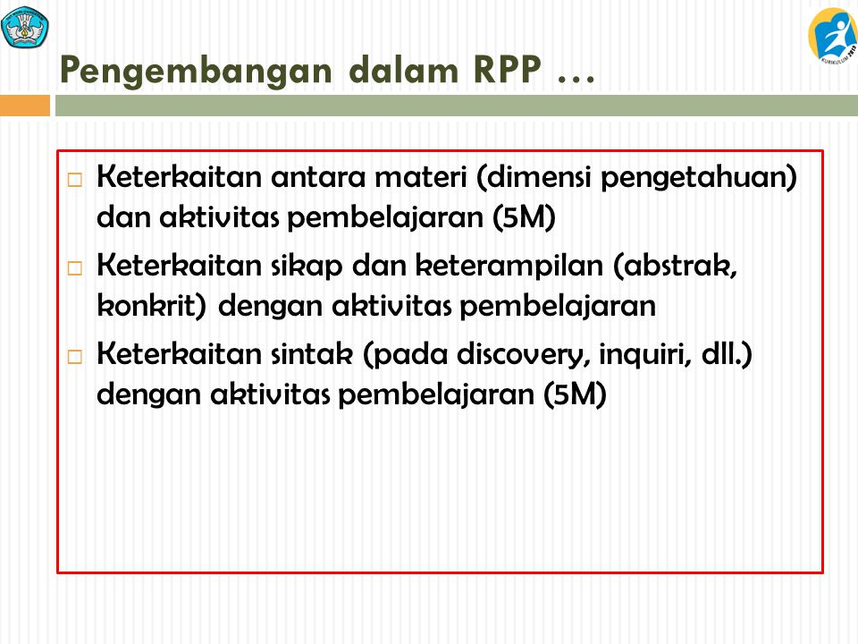 Pengembangan dalam RPP …