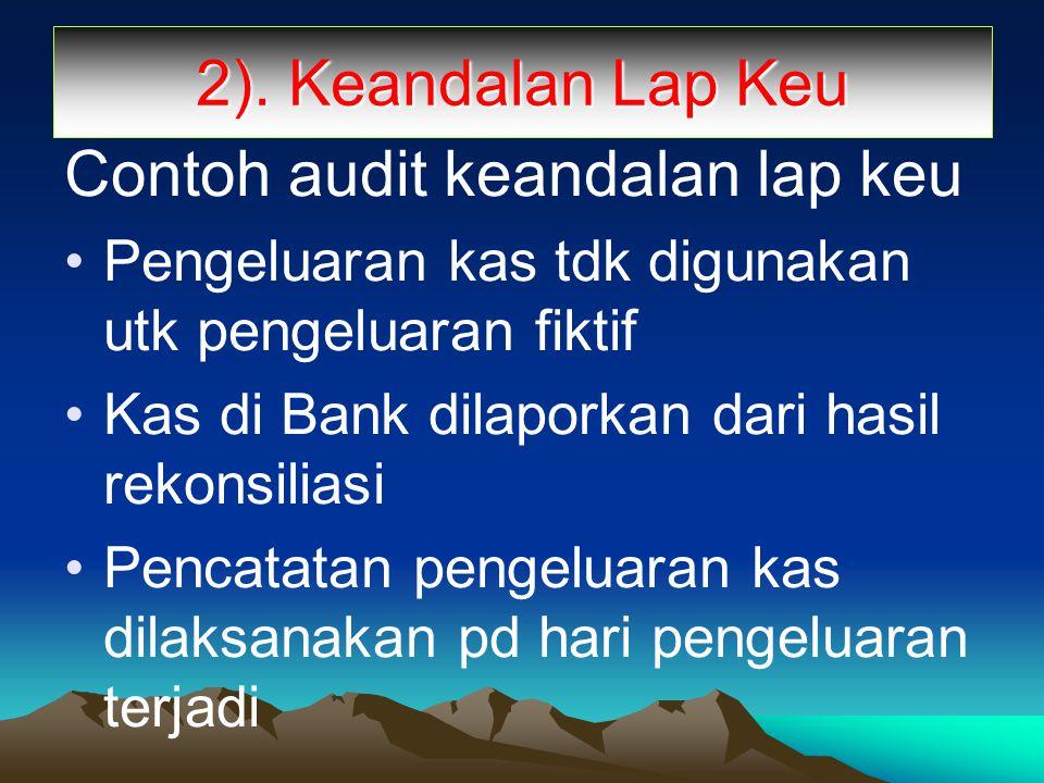 Contoh audit keandalan lap keu