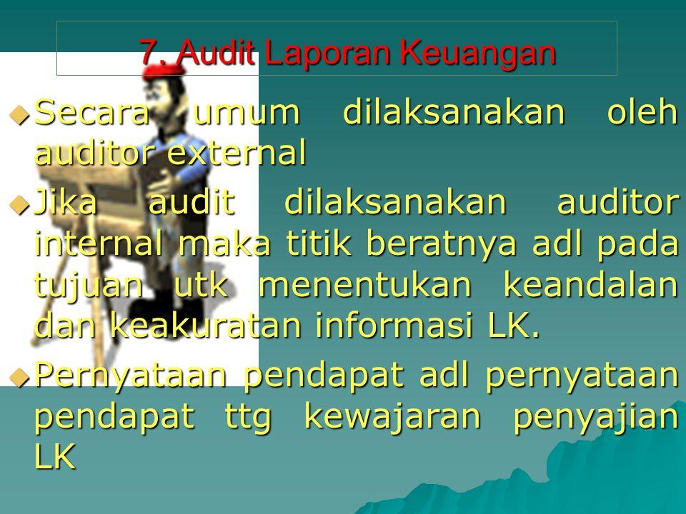 7. Audit Laporan Keuangan