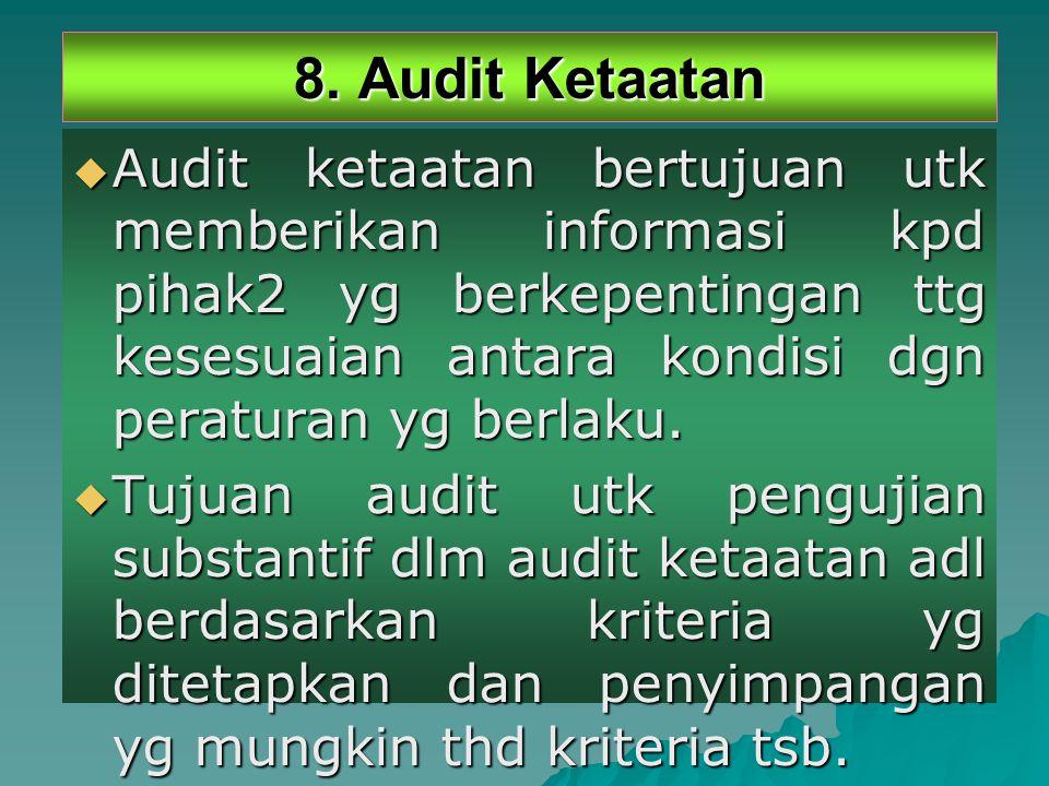 8. Audit Ketaatan