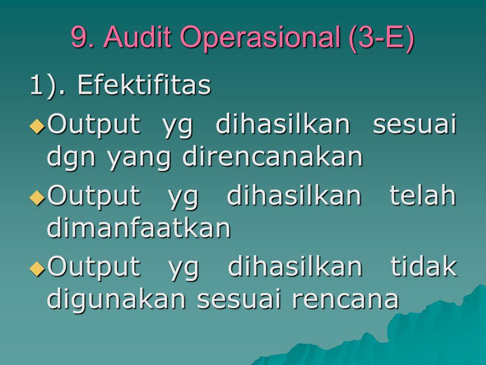 9. Audit Operasional (3-E)