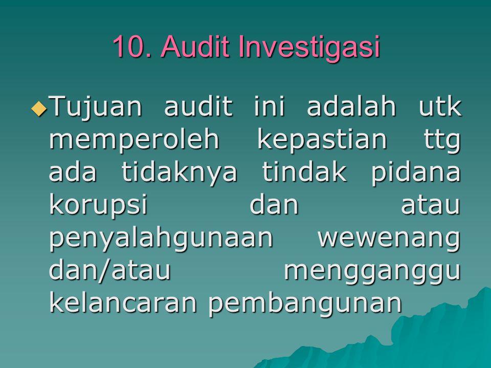 10. Audit Investigasi