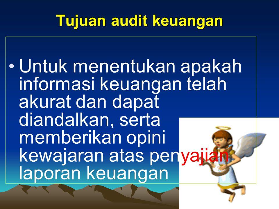 Tujuan audit keuangan