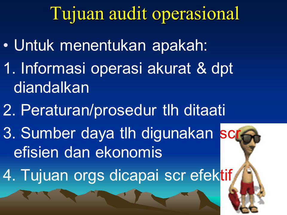 Tujuan audit operasional
