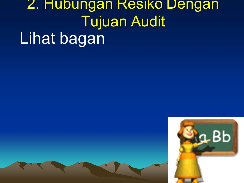 2. Hubungan Resiko Dengan Tujuan Audit