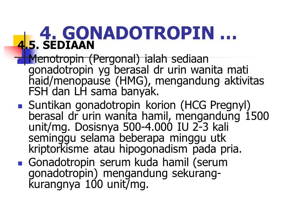 4. GONADOTROPIN … 4.5. SEDIAAN