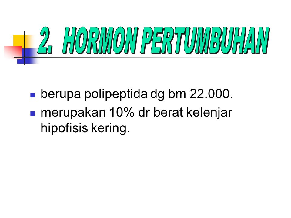 berupa polipeptida dg bm 22.000.