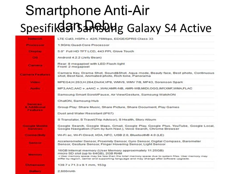 Spesifikasi Samsung Galaxy S4 Active