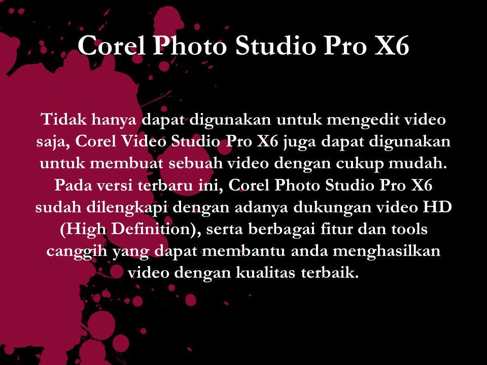 Corel Photo Studio Pro X6