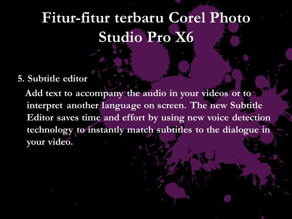 Fitur-fitur terbaru Corel Photo Studio Pro X6