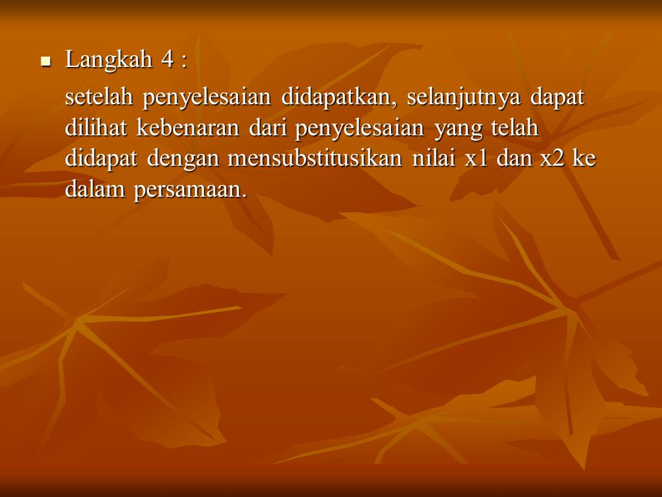 Langkah 4 :