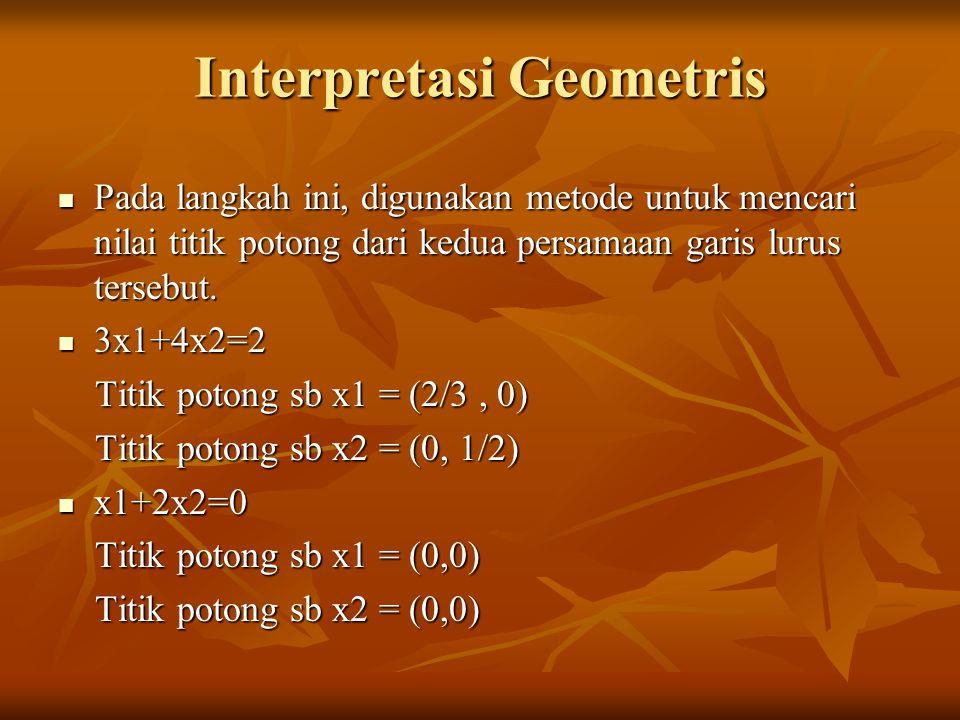 Interpretasi Geometris